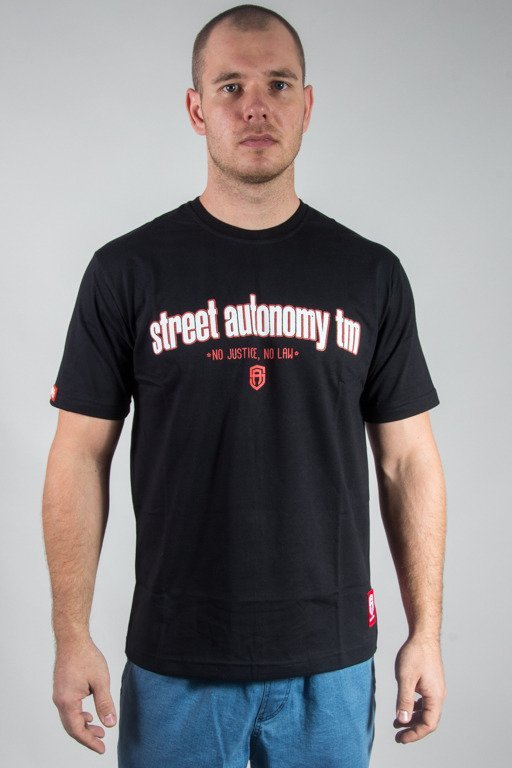 STREET AUTONOMY T-SHIRT FAKE LAW BLACK