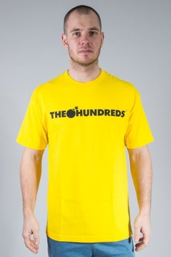 THE HUNDREDS KOSZULKA FOREVER BAR YELLOW
