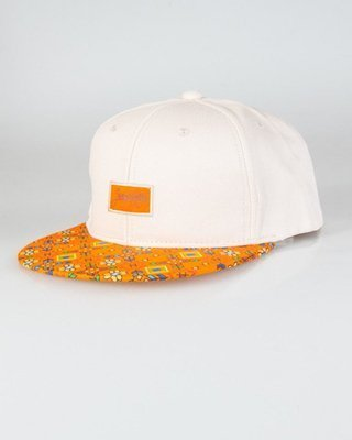 TRUE SPIN SNAPBACK FLOWERS PIXEL BEIGE-ORANGE