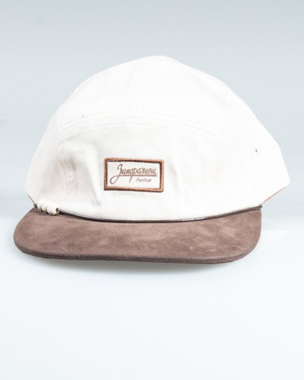 TRUESPIN 5PANEL LOGO BEIGE-BROWN