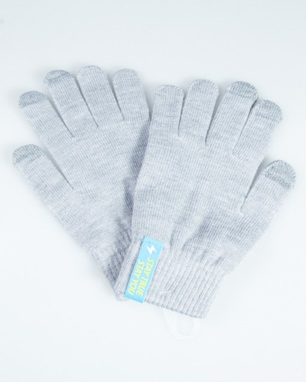 TRUESPIN GLOVES TOUCH LIGHT GREY-GREY