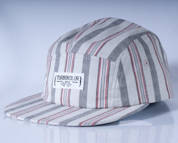 TURBOKOLOR CZAPKA FIVE PANEL CAPS CHECKS WHITE-GREY