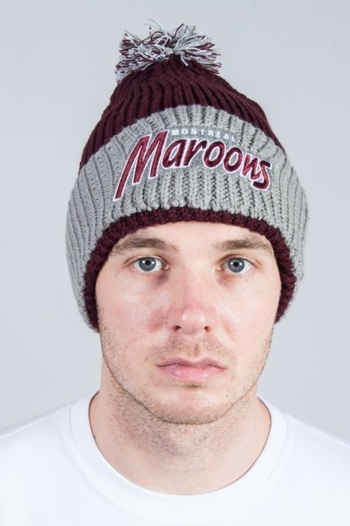 47 BRAND WINTER CAP SKI TRACK CUFF KNIT MONTREAL MAROONS