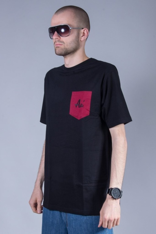 ALKOPOLIGAMIA T-SHIRT BASIC POCKET BLACK