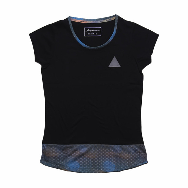 ALKOPOLIGAMIA T-SHIRT WOMAN BLINDED QUEEN BLACK