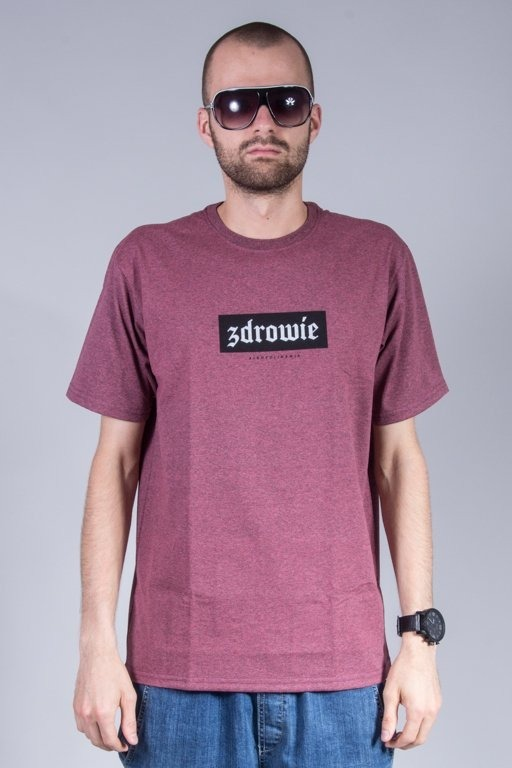 ALKOPOLIGAMIA T-SHIRT ZDROWIE BASIC PINK MELANGE