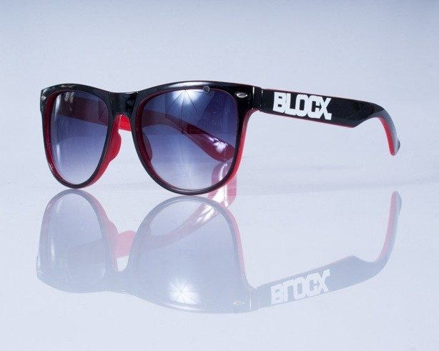 BLOCK OKULARY OUT BLACK RED