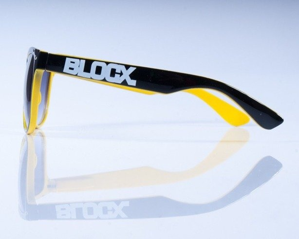 BLOCK OKULARY OUT BLACK YELLOW