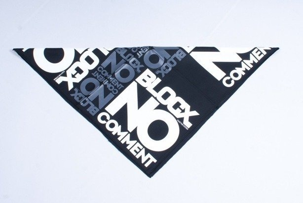 BLOCX BANDANA NO COMMENT BLACK