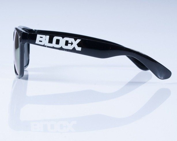 BLOCX OKULARY CLASSIC BLACK MIRROR-RED