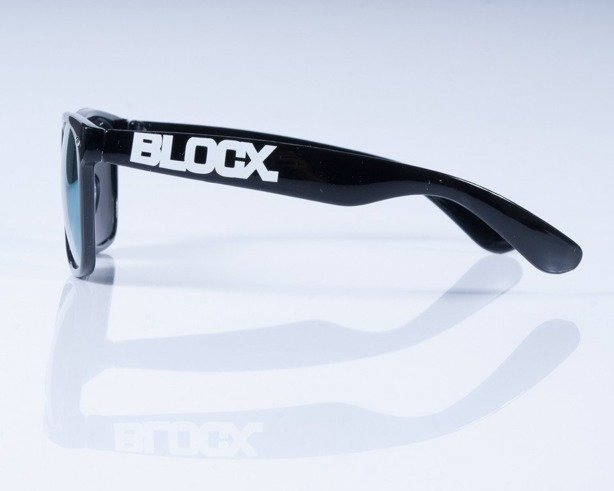 BLOCX OKULARY CLASSIC BLACK MIRROR-YELLOW
