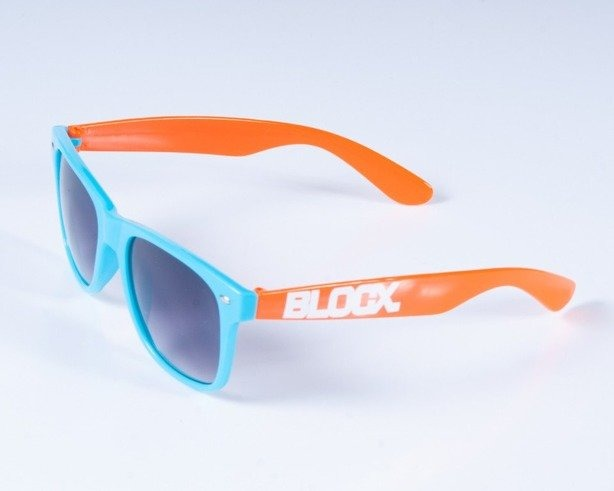 BLOCX OKULARY CLASSIC BLUE-ORANGE