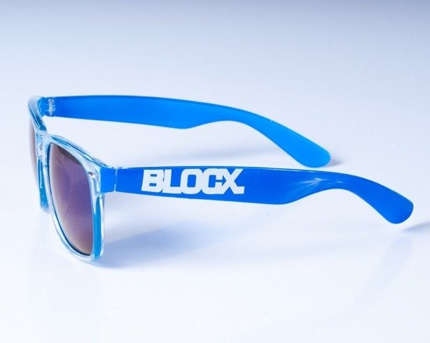 BLOCX OKULARY CLEAR NAVY BLUE COL