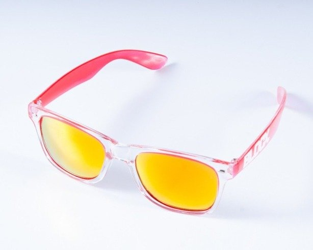 BLOCX OKULARY CLEAR RED COL