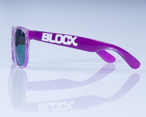 BLOCX OKULARY CLEAR X PURPLE