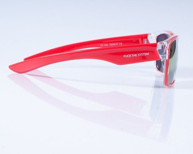 BLOCX OKULARY SHARK CLEAR X RED