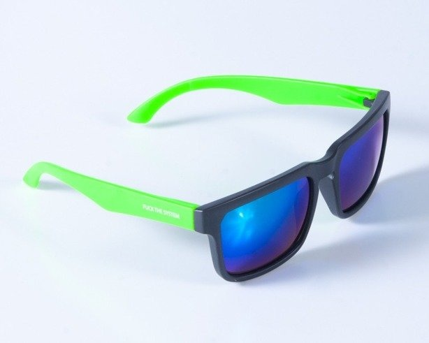 BLOCX OKULARY SQUARE BLACK-GREEN