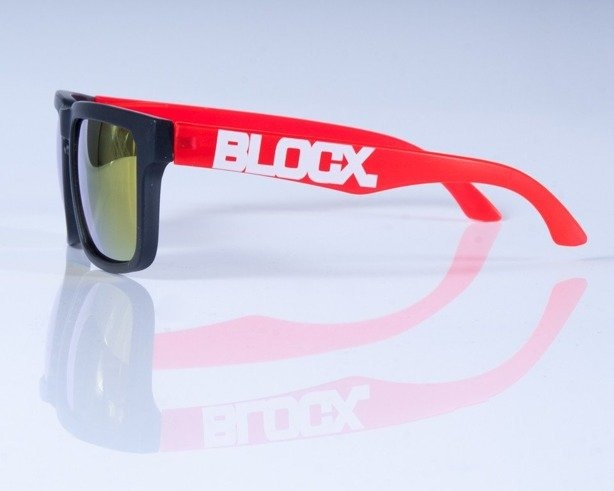 BLOCX OKULARY SQUARE BLACK K-RED COL