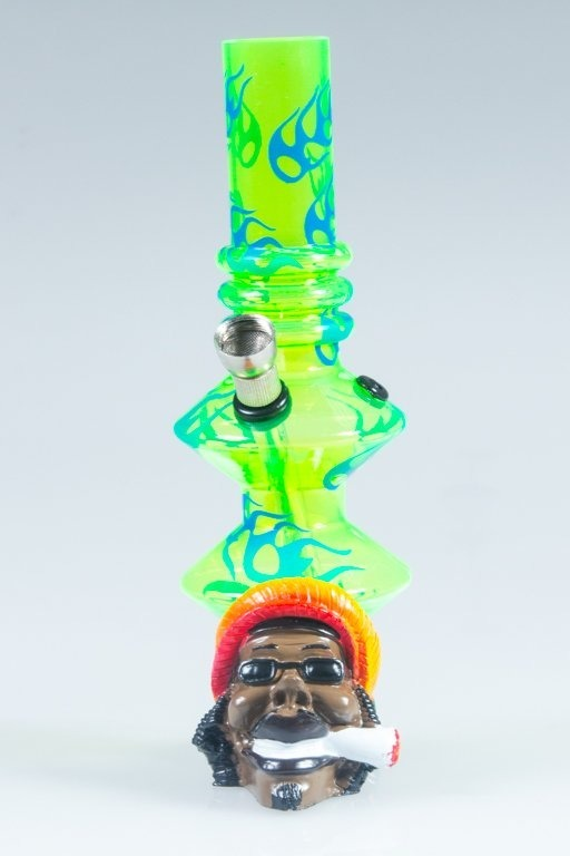 BONGO AKRYLOWE RASTA BOB FIRE TWICE GREEN-BLUE