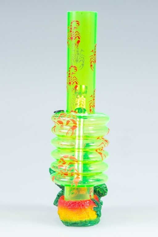 BONGO AKRYLOWE RASTA GANJA SCORPION BAND GREEN-RED