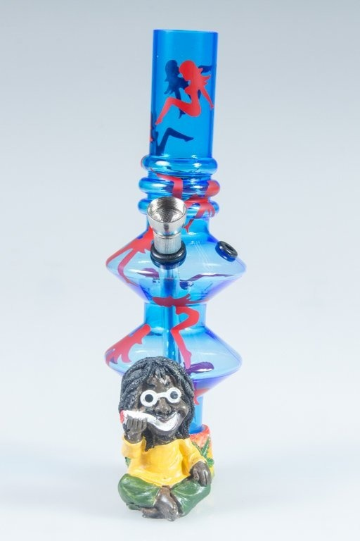 BONGO AKRYLOWE RASTA GLASS LADY TWICE BLUE-RED