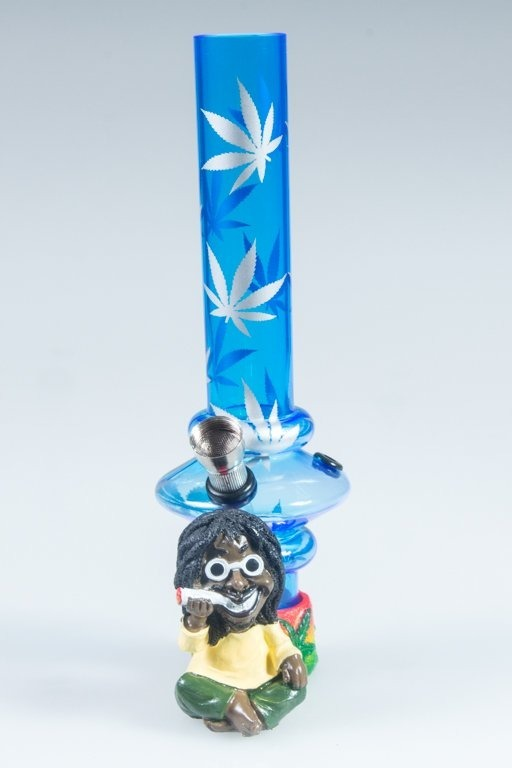 BONGO AKRYLOWE RASTA GLASS MARIHUANA LONG BAND BLUE