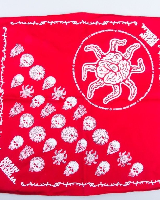 BRAIN DEAD FAMILIA BANDANA RED
