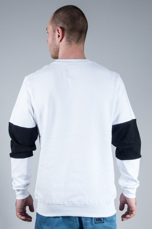 CAYLER & SONS BLUZA BEZ KAPTURA TRES SLICK WHITE-BLACK