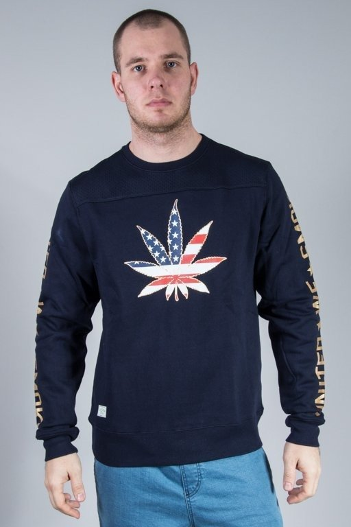 CAYLER & SONS BLUZA BEZ KAPTURA UNITED WE SMOKE NAVY