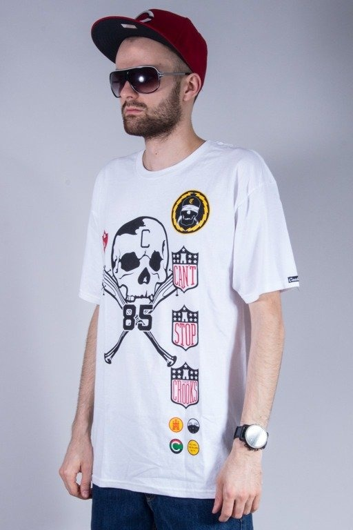 CROOKS&CASTLES KOSZULKA BADGES WHITE