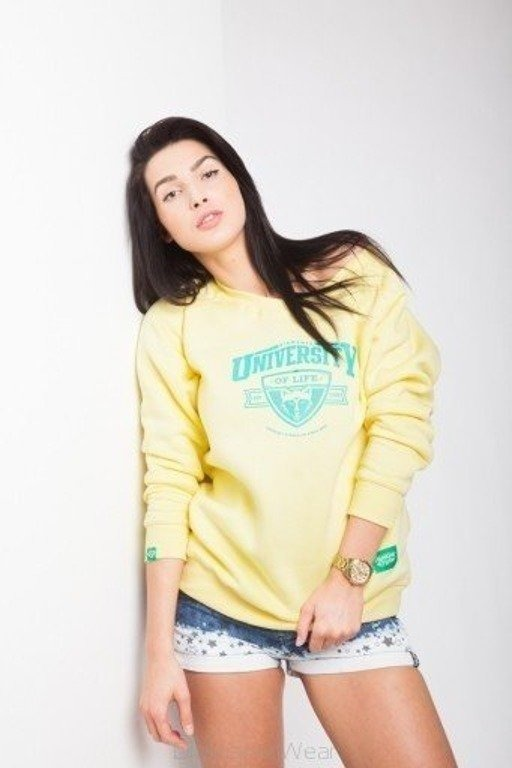 DIAMANTE CHICKS BLUZA NR UNIVERSITY YELLOW
