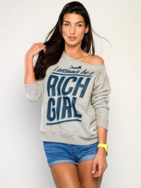 DIAMANTE CHICKS BLUZA RICH GIRL MELANGE