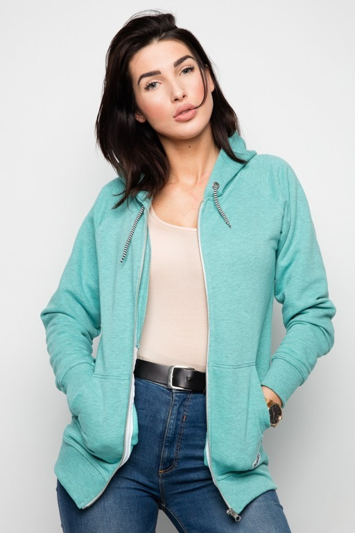 DIAMANTE CHICKS HOODIE ZIP D MINT