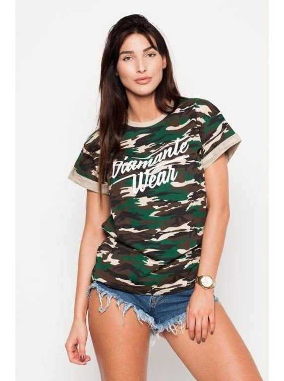 DIAMANTE CHICKS KOSZULKA DIAMANTE WEAR CAMO