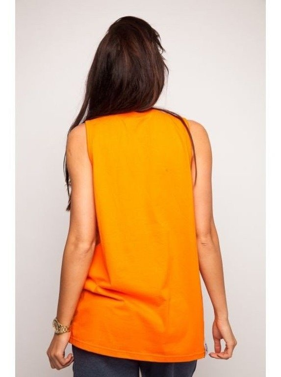 DIAMANTE CHICKS TANK TOP DIAMANTE WEAR ORANGE
