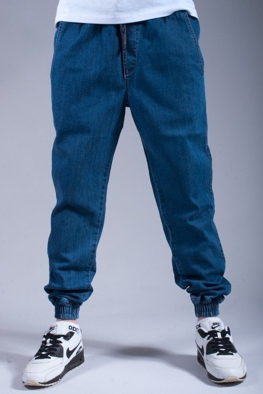 DIAMANTE SPODNIE JEANS JOGGER LIGHT BLUE