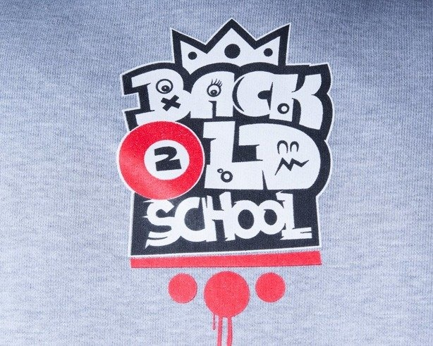 DIAMANTE WEAR BLUZA BEZ KAPTURA BACK 2 OLDSCHOOL GANG GREY