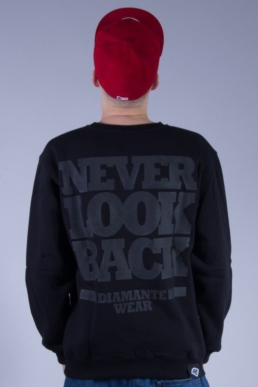 DIAMANTE WEAR BLUZA BEZ KAPTURA LTD NEVER LOOK BACK BLACK