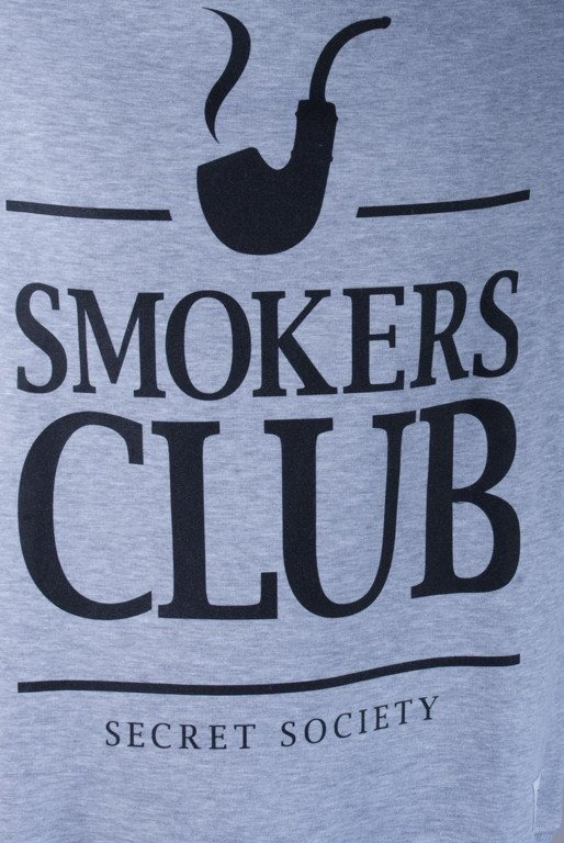 DIAMANTE WEAR BLUZA BEZ KAPTURA SMOKERS CLUB MELANGE