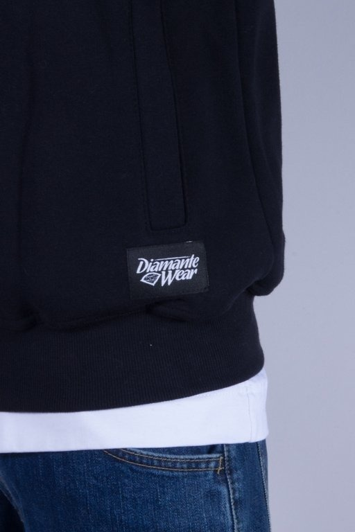 DIAMANTE WEAR BLUZA Z KAPTUREM ZIP MOTHERFUCKER BLACK