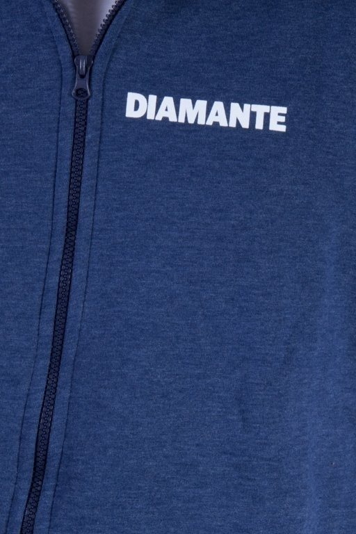 DIAMANTE WEAR BLUZA Z KAPTUREM ZIP NUMBER ONE NAVY