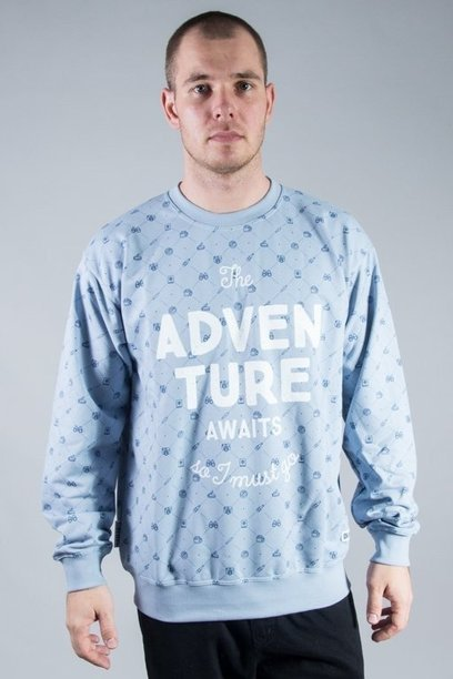 DIAMANTE WEAR CREWNECK ADVENTURE AWAITS BLUE
