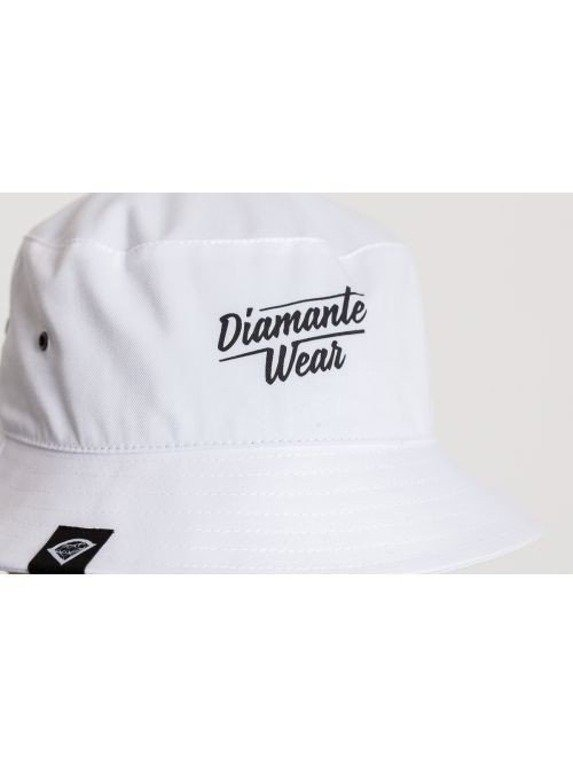 DIAMANTE WEAR KAPELUSZ CLASSIC BUCKET WHITE