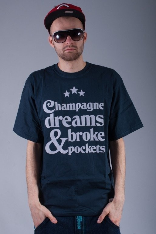 DIAMANTE WEAR KOSZULKA CHAMPAGNE DREAMS NAVY