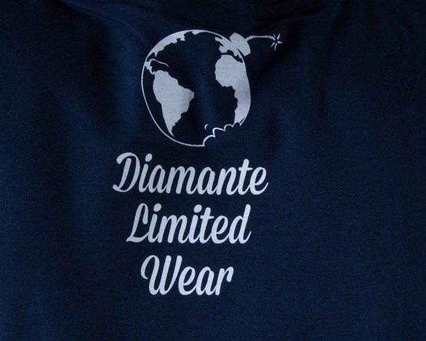 DIAMANTE WEAR KOSZULKA FUCK THE WORLD NAVY BLUE