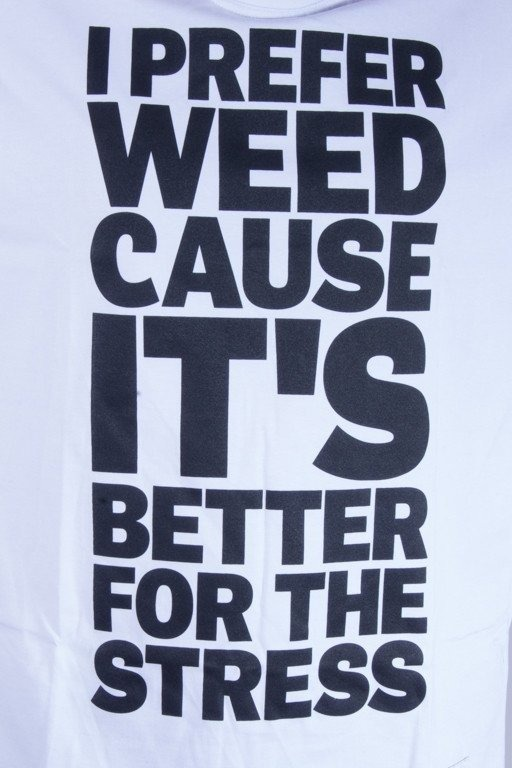 DIAMANTE WEAR KOSZULKA I PREFER WEED WHITE