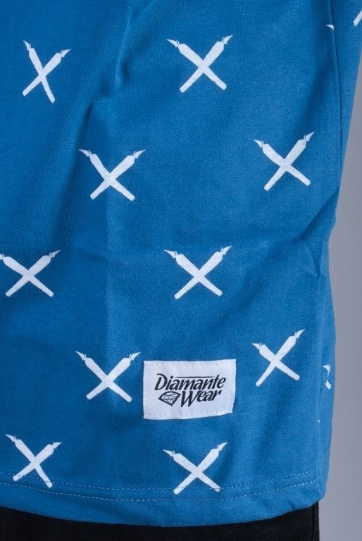 DIAMANTE WEAR KOSZULKA JOINT PATTERN BLUE