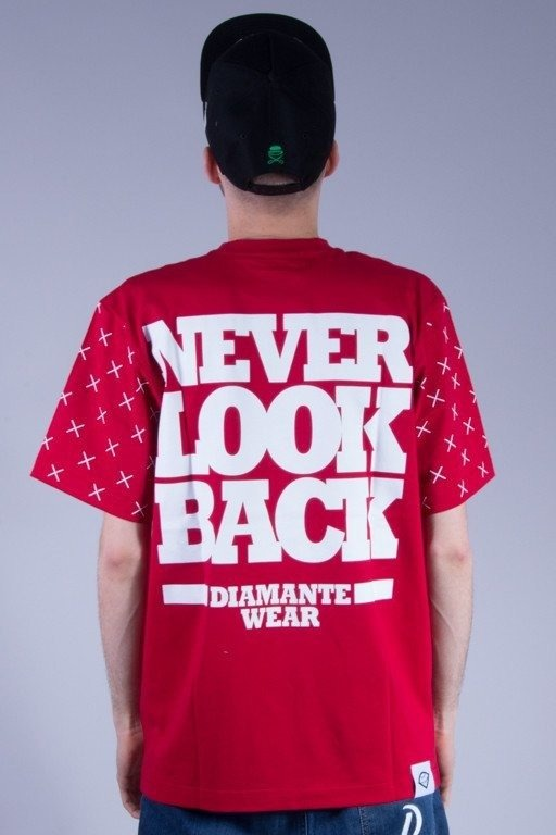 DIAMANTE WEAR KOSZULKA NEVER LOOK BACK RED