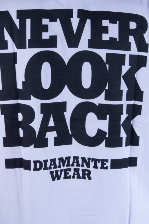 DIAMANTE WEAR KOSZULKA NEVER LOOK BACK WHITE