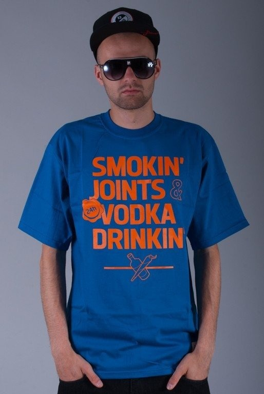 DIAMANTE WEAR KOSZULKA SMOKIN BLUE